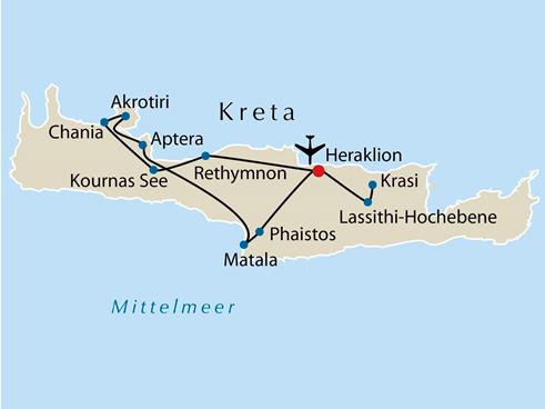 Kreta Karte Mit Sehenswürdigkeiten.Welche Sehenswürdigkeiten Gibt Es Am 8 Tag Wenn Wir Den