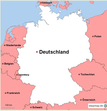 karte deutschland grenzen Wie viele und welche Länder grenzen an Deutschland?   Geografie